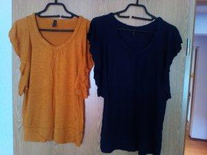 2 Shirts mit Fledermaus Ärmeln