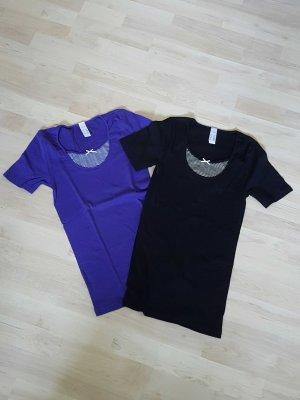 Lascana Camiseta negro-lila