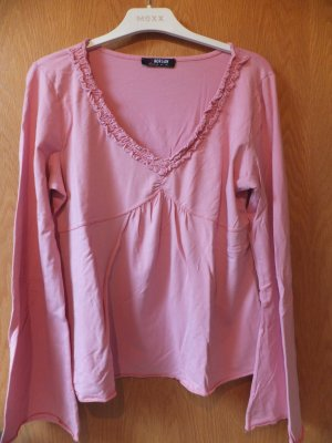 Morgan V-Neck Shirt pink-black