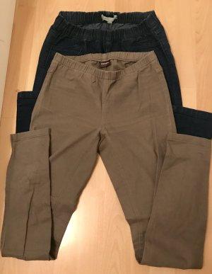 2 Slim-Jeans mit Gummizug (XS)
