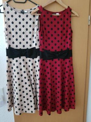 2 Sommerkleider mit modernen Punkten