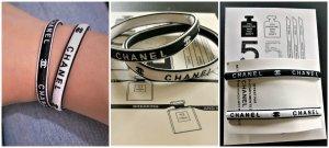 2 Stk.Chanel Black & White  Elastische Haarschmuck,Armschmuck oder Tascheschmuck Neu