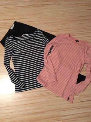 H&M Gestreept shirt roségoud-donkerblauw