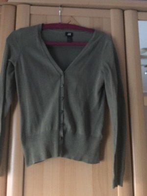 H&M Veste chemise or rose-vert olive