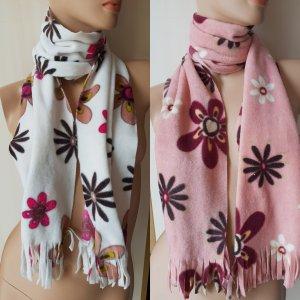 Écharpe blanc cassé-rose