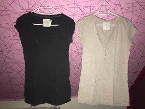 H&M L.O.G.G. Camiseta beige claro-gris oscuro