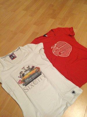 2 t-shirts für jeden Tag Frieda&freddies und Armani Jeans