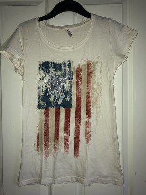 2 T-Shirts mit USA Flagge