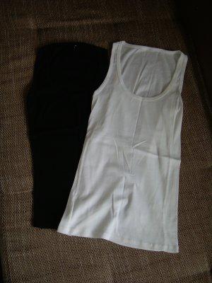 Fishbone Camiseta sin mangas blanco-negro
