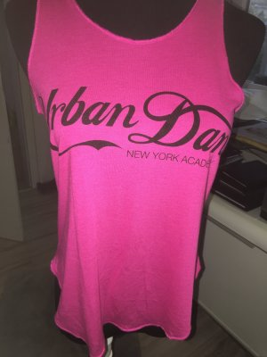 Urban Classics Tank Top neon green-magenta cotton