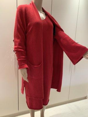 Ensemble en tricot rouge brique-rouge