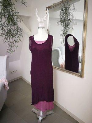 Vestido de chifón rosa-violeta