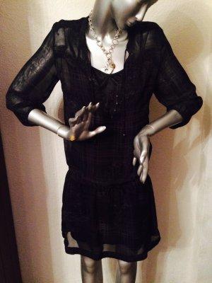 2 teiliges Kleid von edc by Esprit Gr. 38 schwarz grau