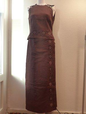 Betty Barclay Vestido Hippie marrón Lino