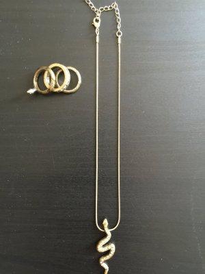 2-teiliges Schmuckset Halskette und Ring Pilgrim