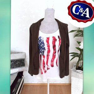2-teiliges Set - Fleecejacke mit Shirt - Gr .S 38