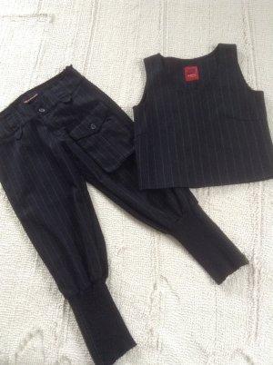 Costume business noir-blanc cassé
