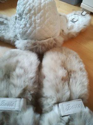 2 teiliges Winterset der Edelmarke BARTS inkl MUETZE und Handschuhe, Kuschelige Pelzoptik