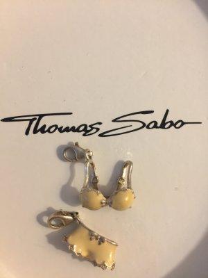 Thomas Sabo Pendente rosa chiaro-argento Argento