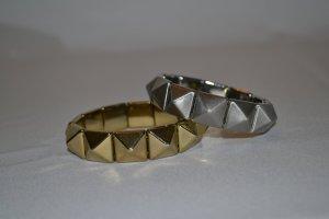 2 tlg. Armband Set Gold Silber H&M