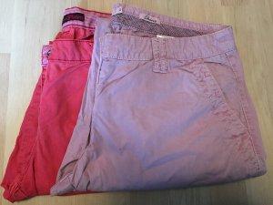 2 Tom Tailor Chino Hosen Größe 42  flieder & pink