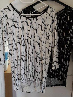 Tom Tailor Denim Slip-over blouse zwart-wit