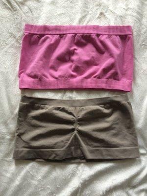 2 verschiedene Bustiers ( pink und dunkles beige) Gr. S/M