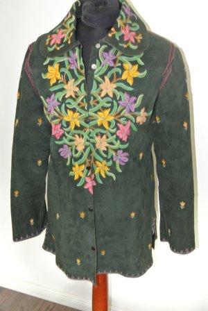 Zara Veste en cuir multicolore daim