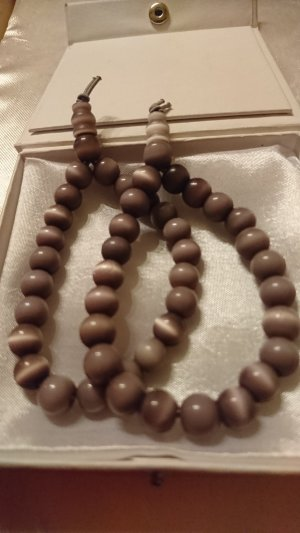 Pearl Bracelet grey brown-cream