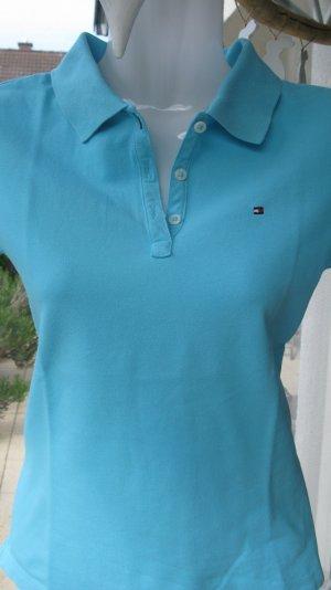 2 x Poloshirts Tommy Hilfiger Slim Fit hellblau/dunkelblau tailliert