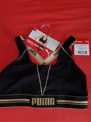 Puma Reggiseno nero Tessuto misto