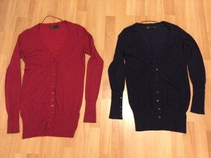 2 Zara Strickjacken Gr. S Blau und Rot