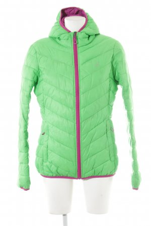 2117 of Sweden Steppjacke neongrün Steppmuster Casual-Look