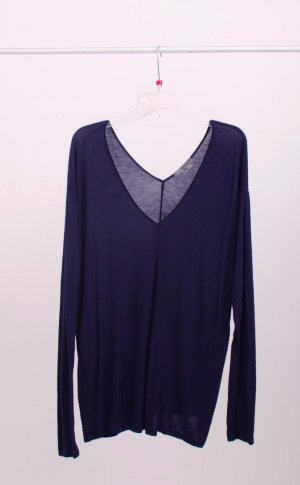 220€ Basic Vince V Neck soft Knit Shirt Longshirt Langarm Dunkelblau James Perse