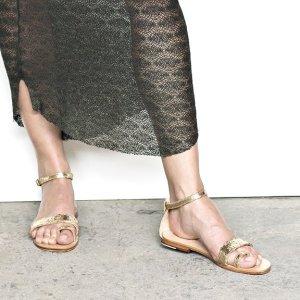 220€ Rabens Saloner Sandalen Sandaletten Gold Leder Nude 38 ~ Des Petits Hauts Cos Zara
