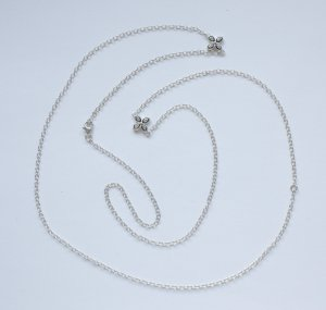 2341 reizvolle, lange Silberkette 925