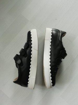 24 Hours Sneaker con strappi bianco-nero