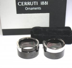 2494 - Gr. 59 u.63 Cerruti Partnerringe Ornaments