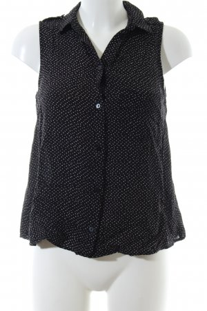 24Colours Sleeveless Blouse black-white allover print business style