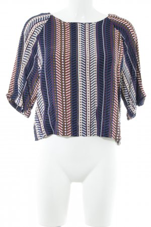 24Colours Langarm-Bluse abstraktes Muster Business-Look