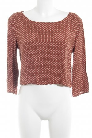 24Colours Long Sleeve Blouse dark orange-white flower pattern casual look