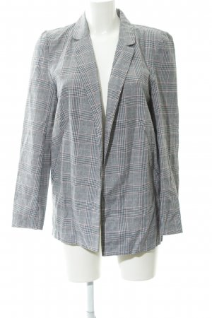 24Colours Long Blazer glen check pattern simple style