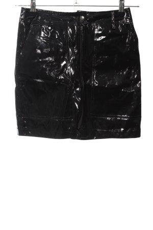 24Colours Mini-jupe noir style extravagant