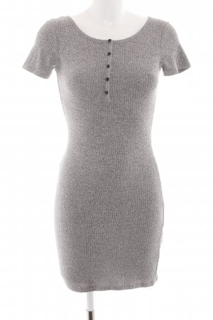 24Colours Tube Dress light grey flecked casual look