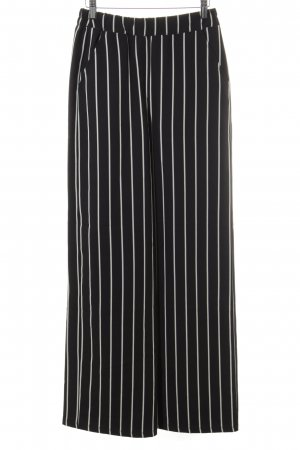 24Colours Jersey Pants black-natural white striped pattern casual look