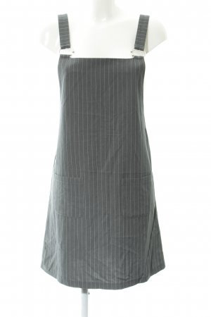 24Colours Pinafore dress grey-white striped pattern street-fashion look