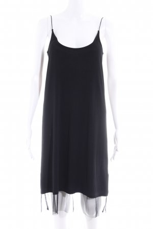 24Colours Pinafore dress black simple style