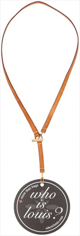 Louis Vuitton Collier Necklace brown-gold-colored leather