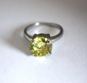 2561 Gr.20=63 Fingerring mit Kristall