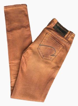 27 ONE GREEN ELEPHANT Gr. 34 Hose Jeans Hüftjeans Hüfthose orange UNGETRAGEN